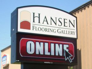 LED Signs custom lighted led outdoor pole sign 300x225